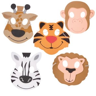Foam Zoo Animal Half Masks