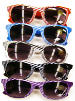 Slanted Stripe Wayfarer Sunglasses