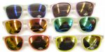 Color Glow Mirror Lens Wayfarer Sunglasses
