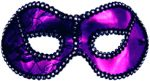 Purple/Black trim Metallic Half Mask