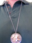 Mirror Ball Disco Necklace