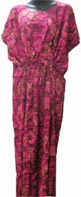 Hawaiian Moo-Moo Dress Fuchsia Luau Hula Hawaiian