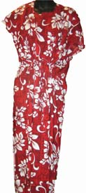 Hawaiian luau hula moo moo dress red white flowers cappels hawaiian luau hulamoo moo dress red white flowers mightylinksfo