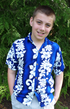 Childs Luau Shirt in Assorted Colors and Sizes