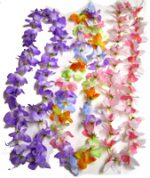 Small Orchid Lei - Purple, Multi Color, Hot Pink/White
