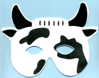 Cow Half Mask for Kids