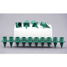 Green Plastic Taper Candle Holder for Crafts & Florals