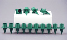 Green Plastic Standard Florists' taper candle holder