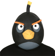 Angry Bird Mask - Black