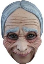 Old Lady Open Mouth Chinless Mask American Gothic Spinster