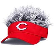 "Cincinnati Reds Visor with Gray ""Hair"""
