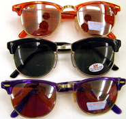 ab8426b402 Color Glow Mirror Lens Sunglasses Wayfarer - Cappel s