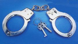 Metal Handcuffs w/ keys Police Officer
