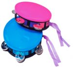 6 Inch Plastic Neon Tambourine - Assorted Colors