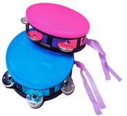 6 Inch Plastic Neon Tambourine - Assorted Colors
