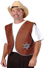 Costume Adult Fabric Sheriff's Vest