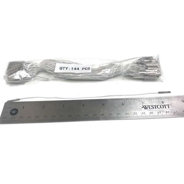 White elastic mask fasteners