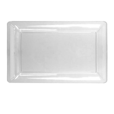 Clear Plastic Smooth Rectangle Tray