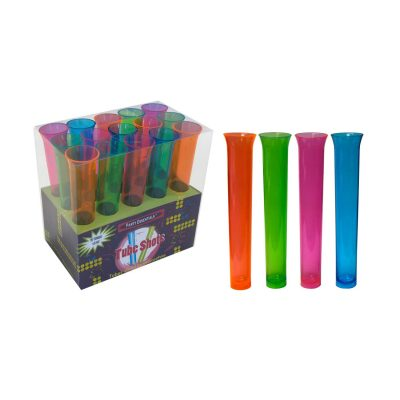 15 Neon Color Tube Shots in a Box