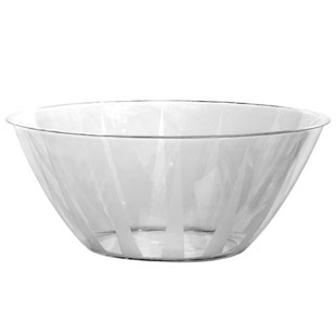 Round Plastic Serving Bowl
