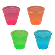Old Fashioned and Tall Plastic Tumblers - Neon