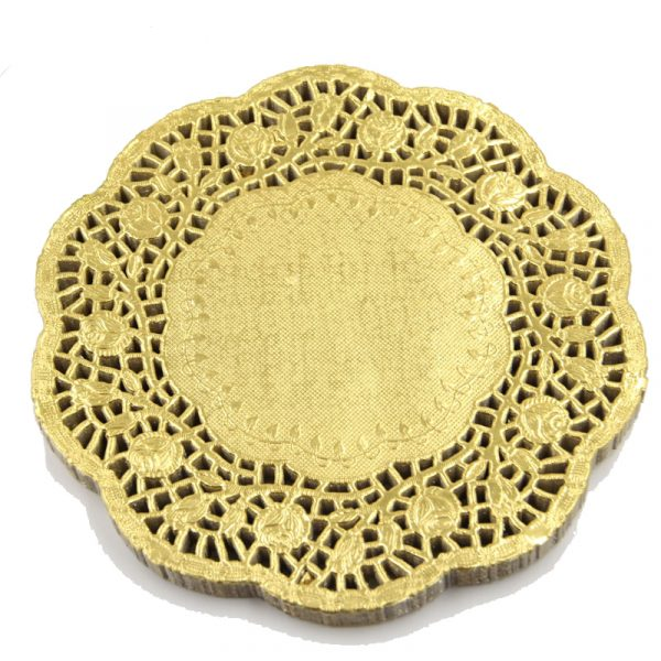 Gold Round Paper Doilies