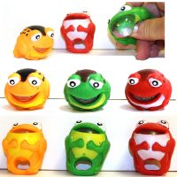 Party Squeeze Rubber Frog Ring