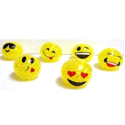 2 1/4 Inch Party Squishy Emoji Bead Ball