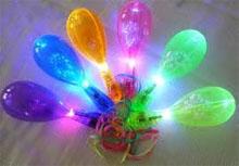 Translucent Plastic Light-up Maraca