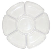 Plastic 7 Section Tray