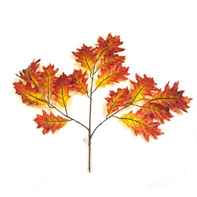 "Silk Oak Leaf Spray - 6"" leaves"