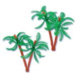 3 Inch Plastic Double Palm Tree