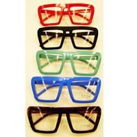 6d519a82d8 Solid Color Square Frames with Clear Lenses - Cappel s