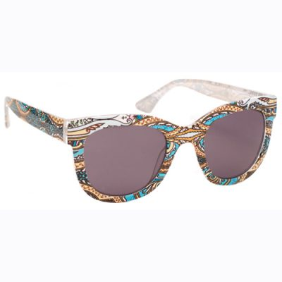 Tropical print sunglasses