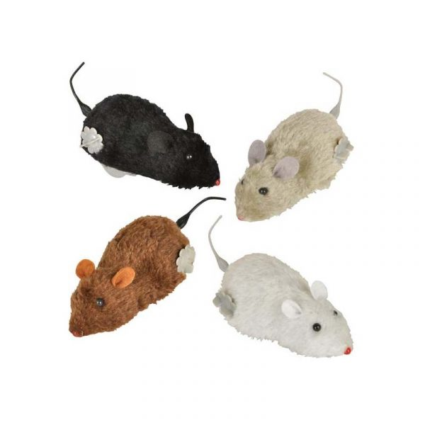 """6"""" Furry-wind-up-mouse"""
