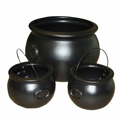 Black Plastic Cauldron