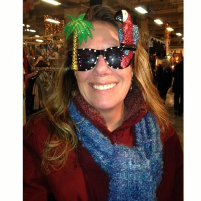 Glittered Tropical Parrot Sunglasses