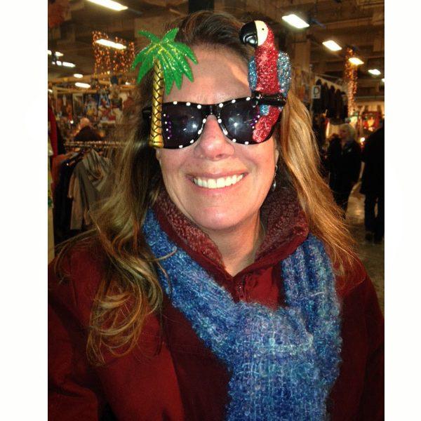 Glittered Tropical Parrot Sunglasses