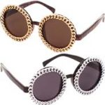 Round Sunglasses with chains on frames