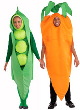 Peas and Carrots Couples Costume