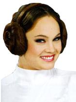 Princess Leia Headband with Hair Buns on Sides
