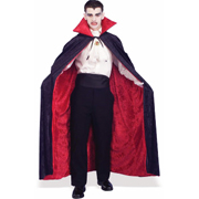 Red and Black Vampire Cape - Velvet