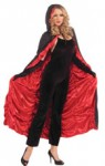 Coffin Cape - Black with Red Rucked Lining
