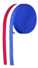 Red, White and Blue Crepe Streamer