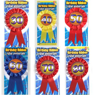 Party Rosette Prize Birthday Ribbons