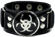 Biohazard Bracelet Leather like