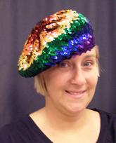 12d3e8ba2aafa Rainbow Sequin Beret Hat 1 - Cappel s