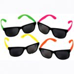 Neon earpiece neon sunglasses