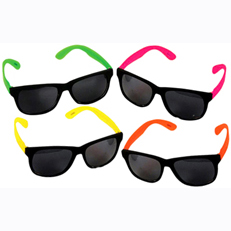 Neon earpiece neon sunglasses