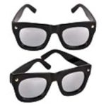 Mirror lens Thick Black Frame sunglasses